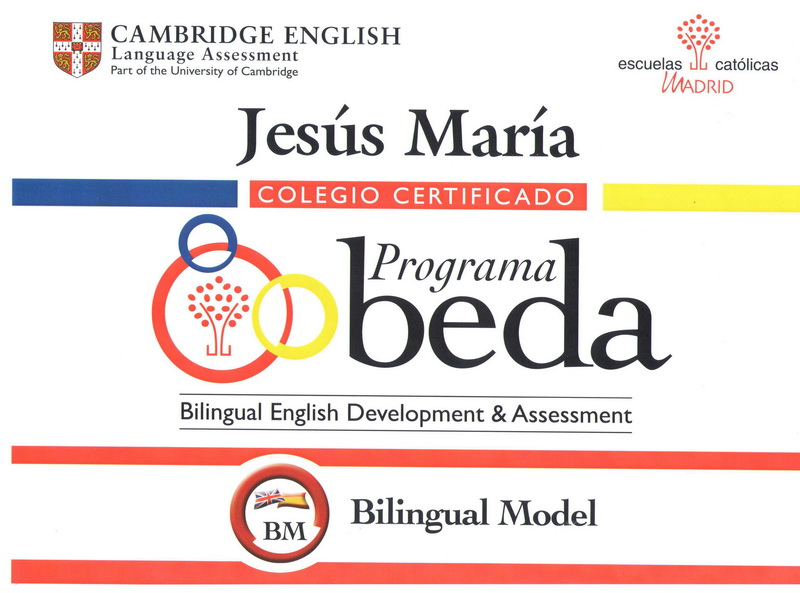 cartel BEDA bilingual model